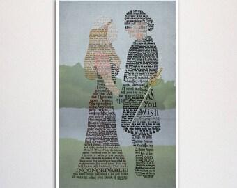 "Princess Bride word art print -11x17"""