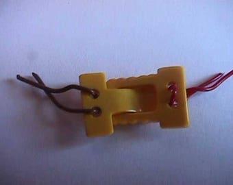 Vintage Yellow or Gold Bakelite 2 part Button or Fastener