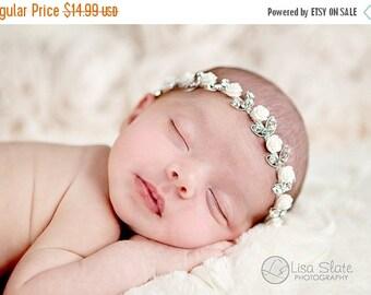 12% off Rose crown headband Newborn Headbands Baby Headband adult headband Baby Hairbow photo prop baptism headband  - headband baby - Baby