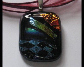 Genuine Handcrafted Dichroic Glass Fused Pendant