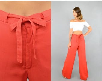 SUMMER SALE 70's Tie-Waist Trousers