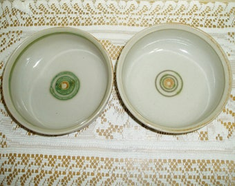Two Iron Mountain Stoneware Whispering Pines Cereal Bowls