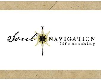 Custom Logo Design - PreDesigned Logo PreMade Logo Vector Logo - OOAK Logo - SOUL NAVIGATION Logo - Coaching Logo - Logo - Nautical Logo