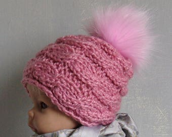 Baby Girl Hat Baby Girl Knit Hat Knit Newborn Hat Baby Winter Hat newborn photo prop newborn boy hat