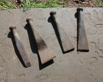 Set of 4 vintage shipwright's or boat builder's caulking irons