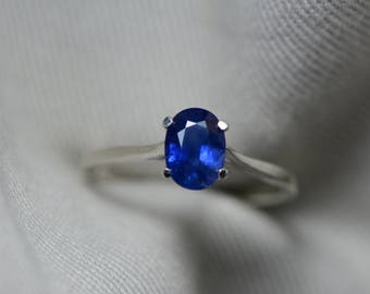 Sapphire Ring, Blue Sapphire Solitaire Ring 1.14 Carat Appraised at 900.00, September Birthstone, Natural Real Genuine Sapphire Jewelry