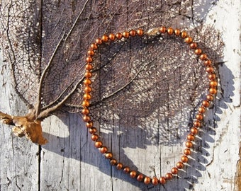 Princess Golden Copper Cultured Pearl Necklace