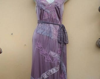 "20%OFF vintage inspired dusky mauve slip dress,,,medium to 40"" bust..."