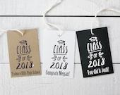 Graduation Favor Tags - Class of 2018 Design - Personalized Graduation Tags | Class of 2018 Favors | Personalized Favor Tags - Set of 18