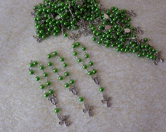 Mini Rosaries (Package of 20) - green