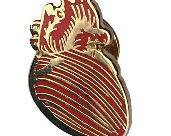 Anatomical Heart Lapel Pin Science gift science pin