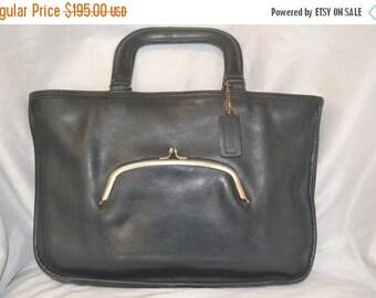 June Savings Vintage COACH Bag Navy Blue Bonnie Cashin Leather Watermelon  Bag  Classic Lines Unisex  Fits a Ipad Stellar Quality