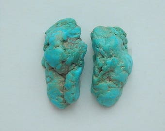 Natural stone Nugget Turquoise cabochon pairs,20x10x8mm,4.4g