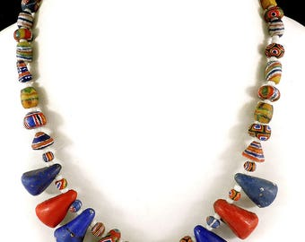 Old Kiffa Beads Necklace Mauritanian Africa 18 Inch 102634