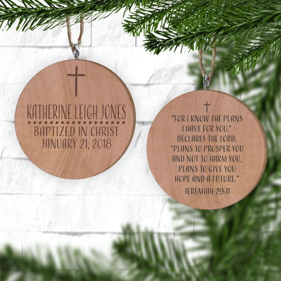 Baptism Ornament Personalized Christmas Ornament Christening