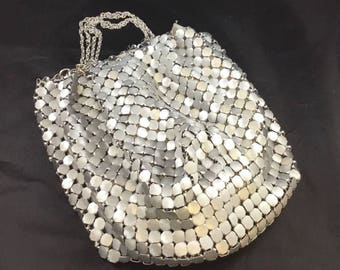 WHITING and DAVIS Co Silver Armor Mesh Hand Bag