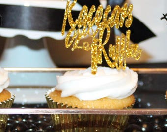 Acrylic Racecars or Ruffles cupcake toppers/ Gender Reveal/ Gender Neutral Cupcake Toppers