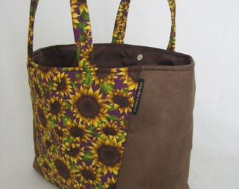 sunflower Tote, Arm Tote, Summer Tote, Beach Tote, Shopper, Travel Tote, Vacation Tote,  sunflower tote, school tote, AT11X11C-Sunflower
