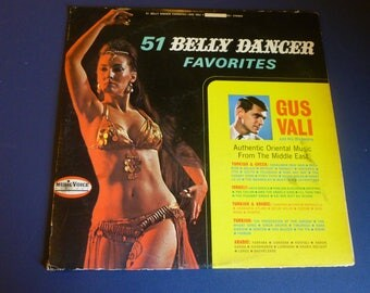 51 Belly Dancer Favorites Gus Vali And His Orchestra Vinyl Record LP 021Music Voice Records 1960's