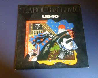 UB40 Labour Of Love Vinyl Record LP SP-6-4980 A&M Records 1983