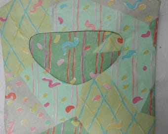 Green Multi-Print Clothes Pin Holder - Clothes Pin Bag - Made to Order