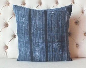 "18""x18"" Vintage Hmong Hemp cushion cover, Handwoven Hemp Fabric-vintage Homespun hemp,Cushion and Pillows,"