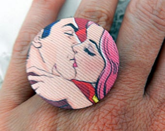 Adjustable Fabric Ring, Cartoon