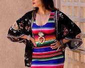Bodycon Mexican Sarape Print Dress by Paulina