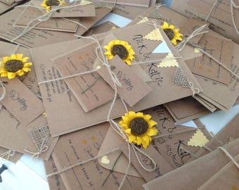 Rustic Wedding Invitations, Handmade, Rustic, Sunflowers, Wedding Invitations, Fairytale
