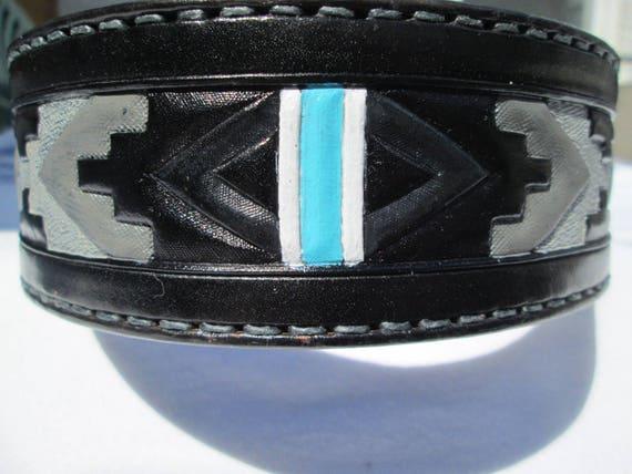 Large leather collar, black and grey collar, handmade dog collars, leather dog collar, pet collars, unique collars, Boxer, Pitbull collar