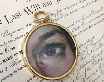 Sometimes The Eye Can Tell The Entire Story Vintage Salvaged Eye Painting