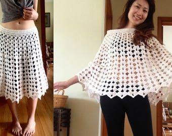 Crochet Poncho/Skirt