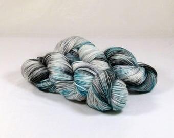 Hand Dyed Yarn - Sock Yarn - Fingering Yarn - Superwash Merino / Nylon - Granite Teal