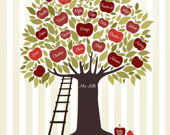 Custom Listing for GBrielle, Teacher Tree, 8 x 10 Printing of Digital Purchase