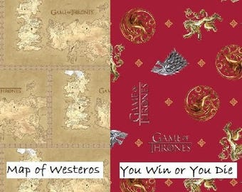 Game of Thrones,You Win or You Die, Springs Creative Fabric, Half Yard