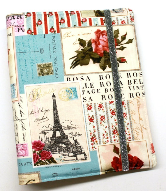 Paris Patchwork Red Gold WIP Tracker Cover and Binder