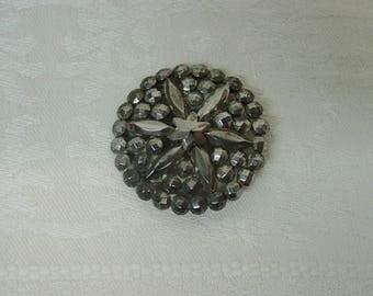 "Antique Vintage Button Riveted Cut Steel, 3 Shapes 1 3/16"" Star Center"
