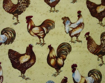 "Fun Fabric Hoffman Screen Print ""Chicken Soup"" 2 Yards, 43"" Wide"
