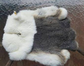 Tanned Opal Dutch Rabbit Fur Pelt - Craft Grade