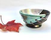 "Ceramic Bowl, Decorative Bowl, ""Craquepot"", Ceramic Dish, Pottery, Home Decor, Steampunk Decor, Steampunk Bowl, Clay Bowl, Industrial Decor"