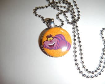 Cheshire Cat ALice In Wonderland Character Necklace Pendant
