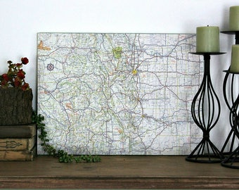 COLORADO State Map Wall Decor | Vintage Colorado Map | Vintage Maps | Perfect Gift for Any Occasion | Medium Size