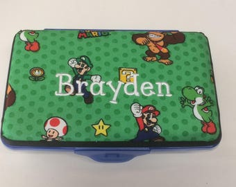 Personalized Kids School Pencil Box Case Super Mario Brothers