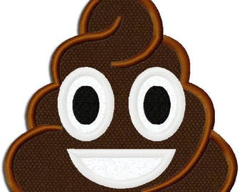 Personalized Emoji Poop Bath Towel Embroidered Monogram