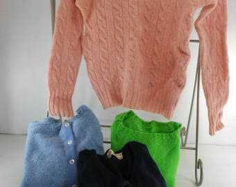 4 Vintage Sweaters Cutter Project Wool Cashmere Scotland