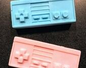 Nintendo Entertainment Center NES Controller Soap - Bathroom Suds Soap Gamer Gift Video Game Retro Classic Blue Pink  Shea Lavender Scented
