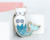 Cat Mermaid Hard Enamel Pin