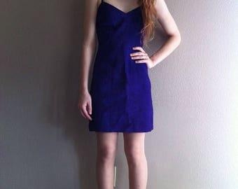 SALE genuine purple leather minidress- SALE