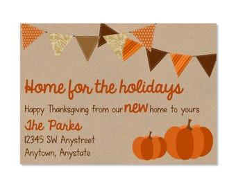 Thanksgiving New Home Announcement