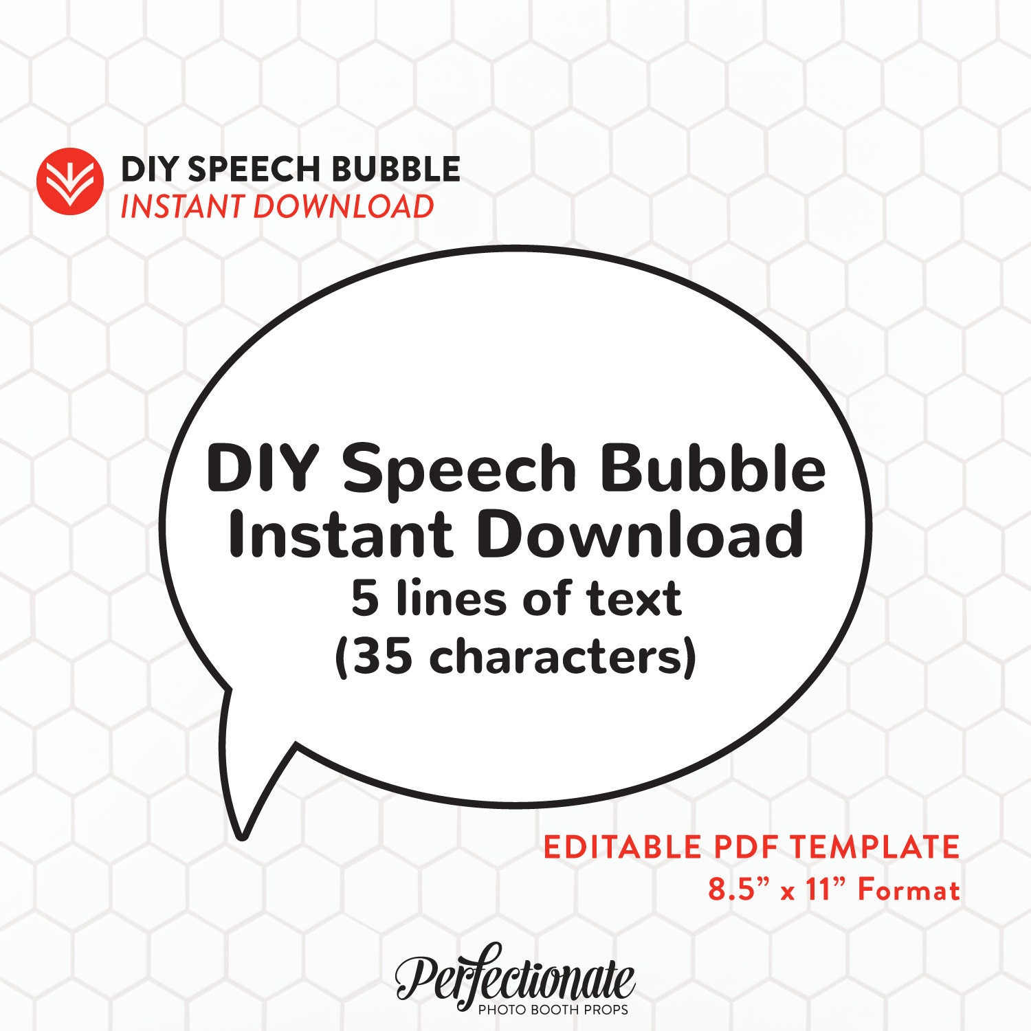 It's just an image of Unusual Speech Bubble Printable